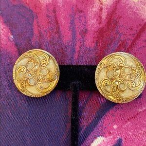 Vintage Two Sisters Gold Earrings